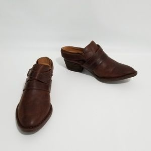 Cowgirl Western Leather Born Mules 7.5